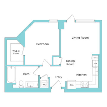 Rendering of the A1.1 floor plan layout