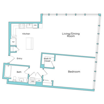 Rendering of the A12.1 floor plan layout