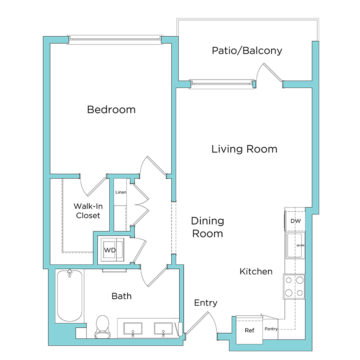 Rendering of the A6.1 floor plan layout