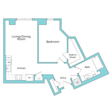 Rendering of the A7 floor plan layout