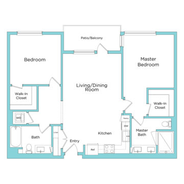 Rendering of the B1.3 floor plan layout